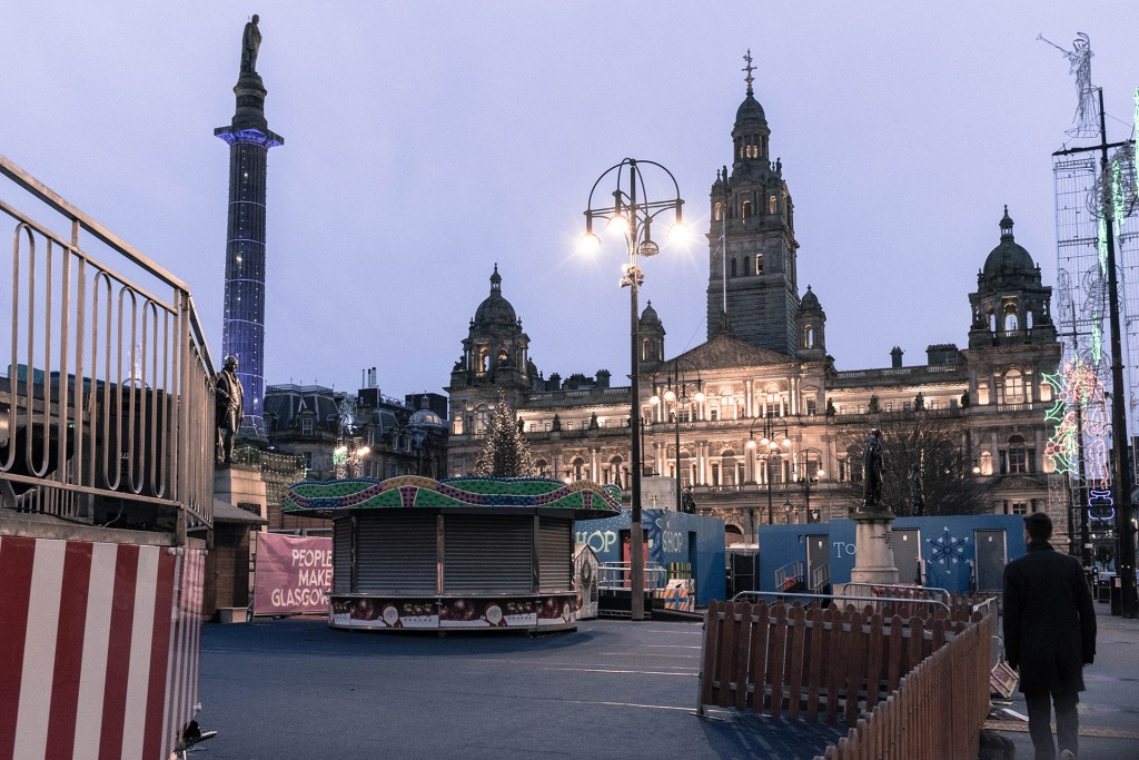 Glasgow George Square New Years Day 2016