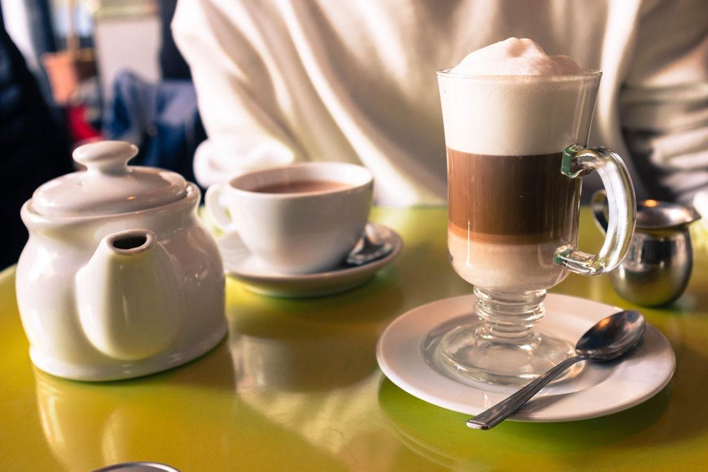 teapot tea cup latte