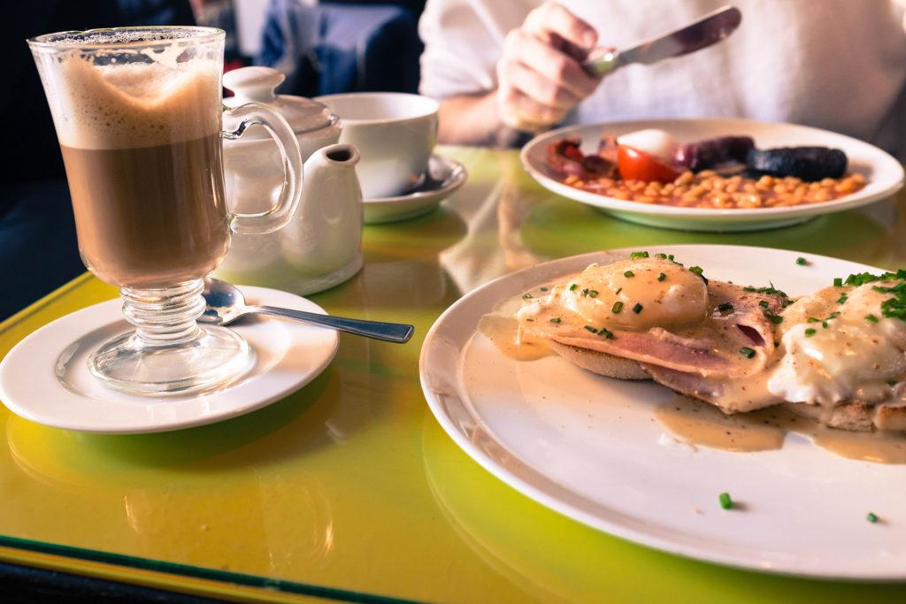 eggs Benedict latte