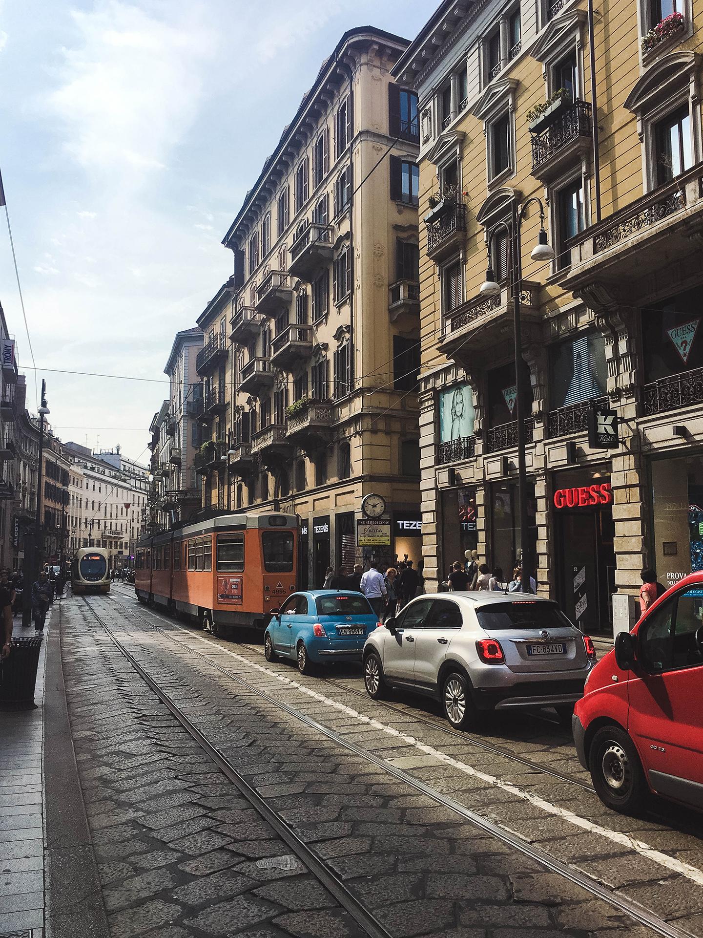 milan street trams