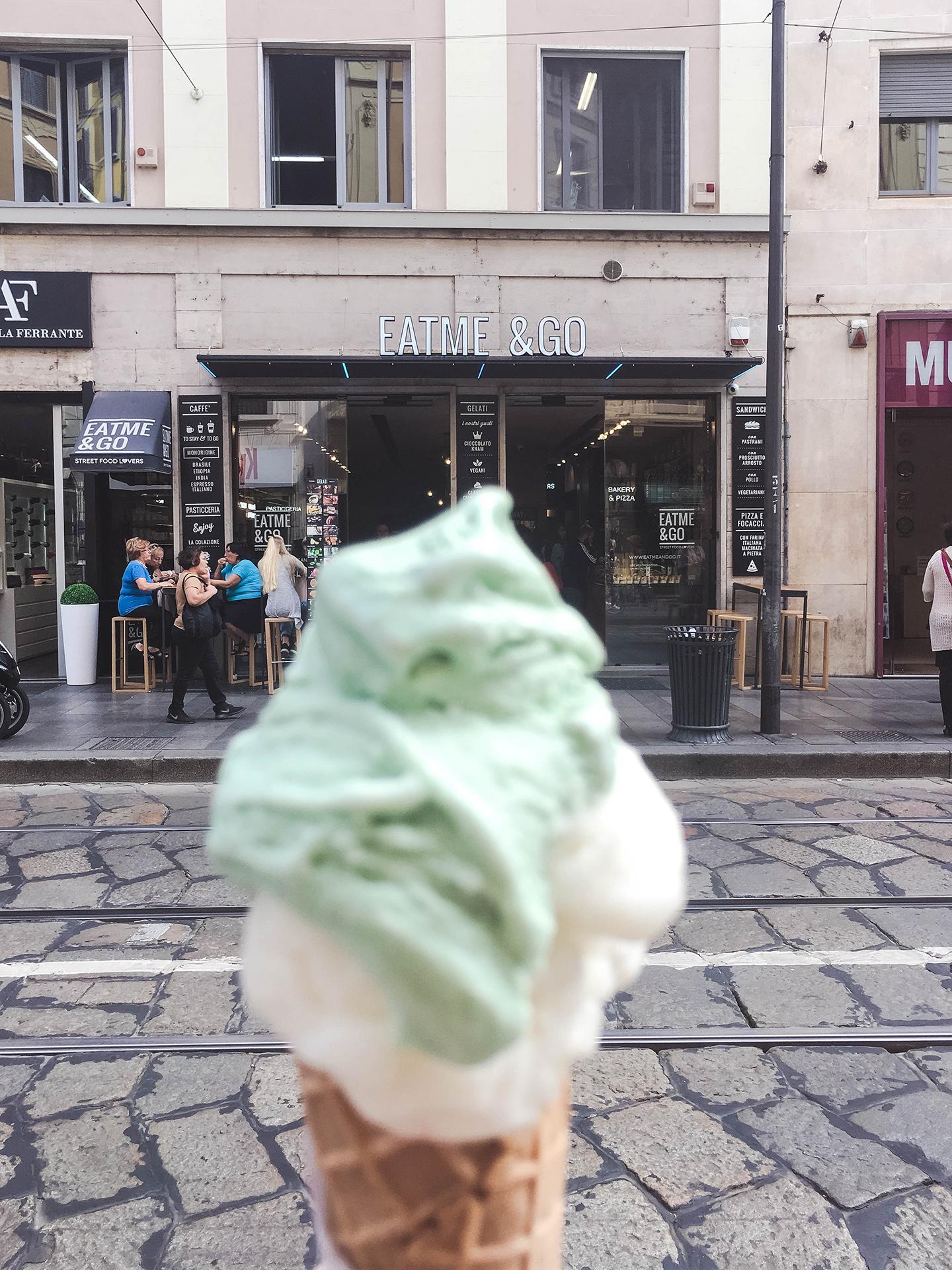 milan eatme&go gelato